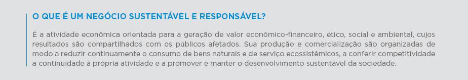O que é um negócio sustentável e responsável?